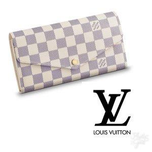 Louis Vuitton Sarah Wallet (Damier Azur)